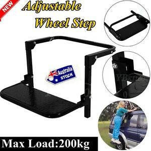 Adjustable-Wheel-Folding-Step-Stair-Van-Truck-4x4-4WD-ATV-Lift-Ladder-AU-Seller