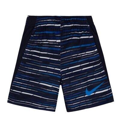 Nike Boys Printed Legacy Obsidian Striped Shorts DriFit New