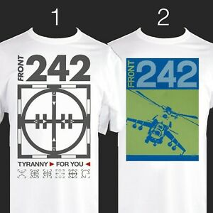 FRONT-242-Band-TShirt-Tyranny-For-You-Helicopter-Industrial-EBM