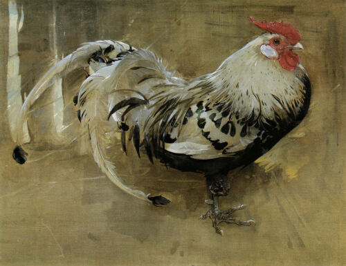 CHOP1506 100/% handmade painted rooster animal oil painting art on canvas