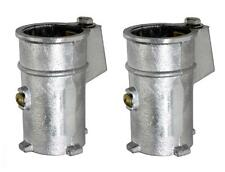 "Perma-Cast Anchor Socket for 1.9"" Rail PS-4019-C PS4019C 4"" ALUMINUM  **PAIR**"