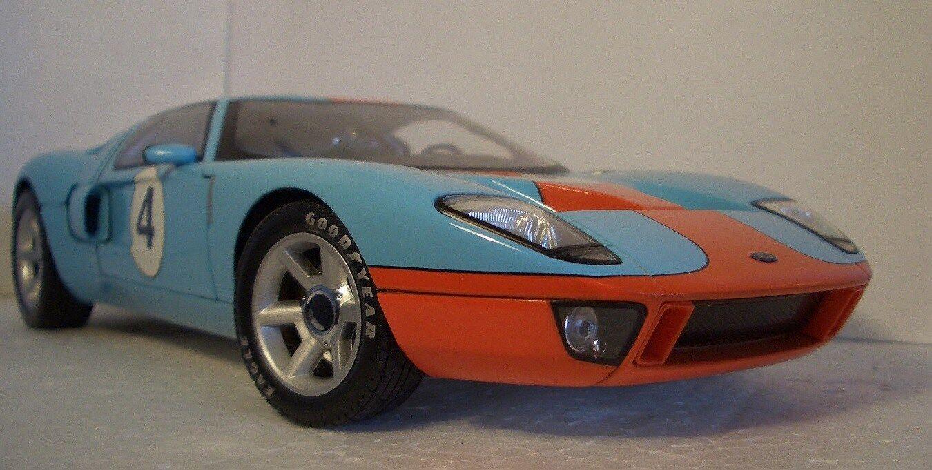 Bil Ford GT Sport 24 Race GT40 1 18 f gp 12 bilousel blå 1969