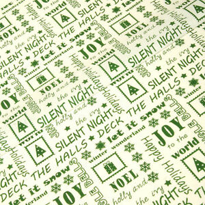 white-amp-green-christmas-memories-Polycotton-fabric-SAMPLE-free-p-amp-p