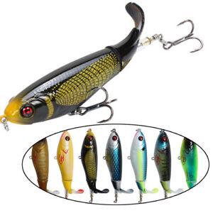 Kuenstlich-2-Segment-Topwater-Bass-VMC-Hooks-Plopper-Angeln-Lure-Koeder-aus-Fisch