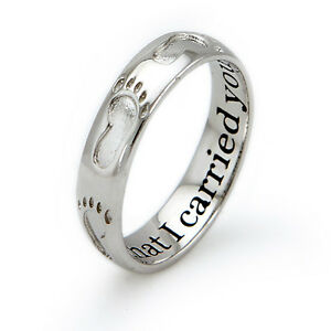 Sterling-Silver-925-Footprints-In-The-Sand-Religious-Ring