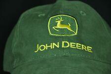 John Deere Baseball Cap Hat Green Yellow Adjustable Trackor Farmer Nothing Runs