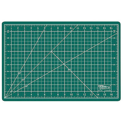 "12"" x 18"" GREEN/BLACK Self Healing 5-Ply Double Sided Durable PVC Cutting Mat"