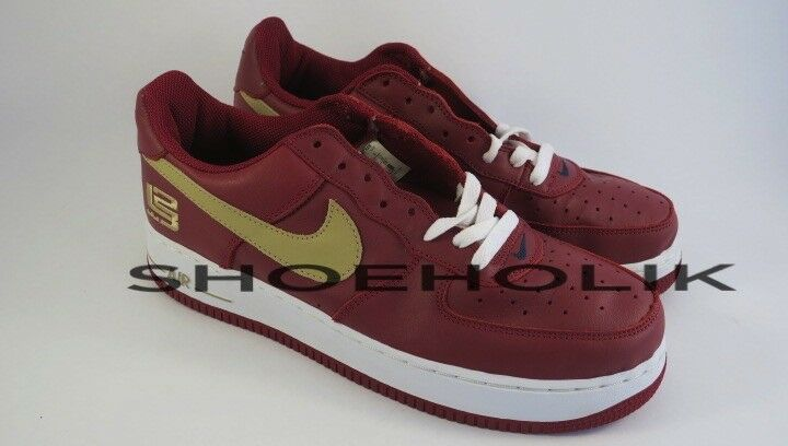 Brand new 2004 nike air force 1 basso lebron james pe - numero 10 306353-671