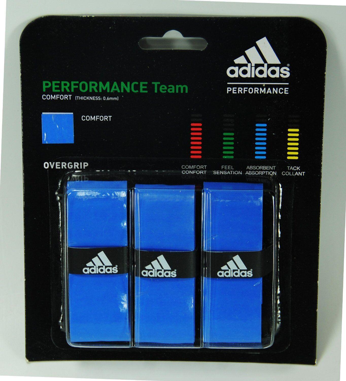 Lot of 10 adidas Badminton, Tennis, Squash, Raquetball Overgrips - 7 colors