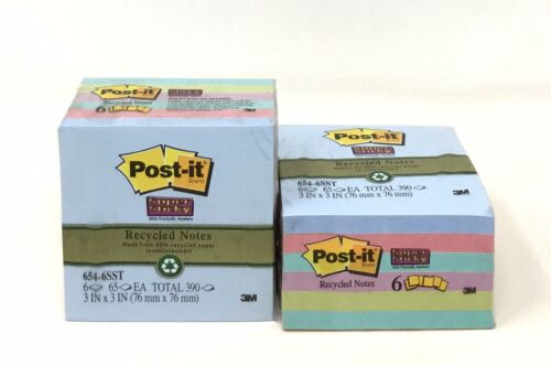 6-Pad Packs Post-it Super 2X Sticking Recycled Sticky Notes 3 In x 3 In T 2