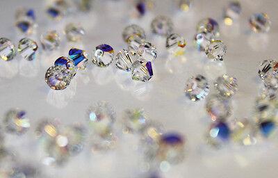 Swarovski 5328 Xilion Bicone Beads 3mm 4mm 5mm 6mm 8mm 10mm Crystal * Crystal AB