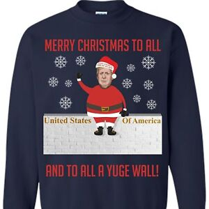Trump Christmas Sweater.Details About Santa Trump Merry Christmas Sweater Funny Donald Trump Xmas Sweater