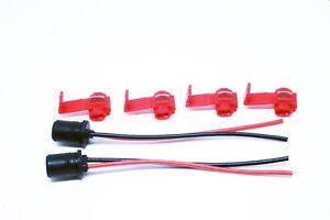 2x-LED-HALOGEN-SOCKET-T10-W5W-4x-CLAMPS-12V-24V