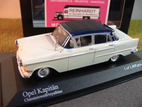 1 43 Minichamps Opel Opel Opel Kapitän 1959 weiss blue 203e42