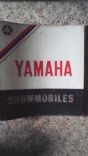 "Used Yamaha Snowmobiles 2"" White 3 Rings Binder"