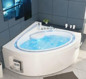 Luxus Whirlpool Badewanne Mit Led Bachlauf Ozon Heizung 165x148 Cm Eckwanne Bad Ebay
