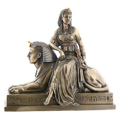 Cleopatra Sitting On Statue Of Sphinx Statue Sculpture Figurine