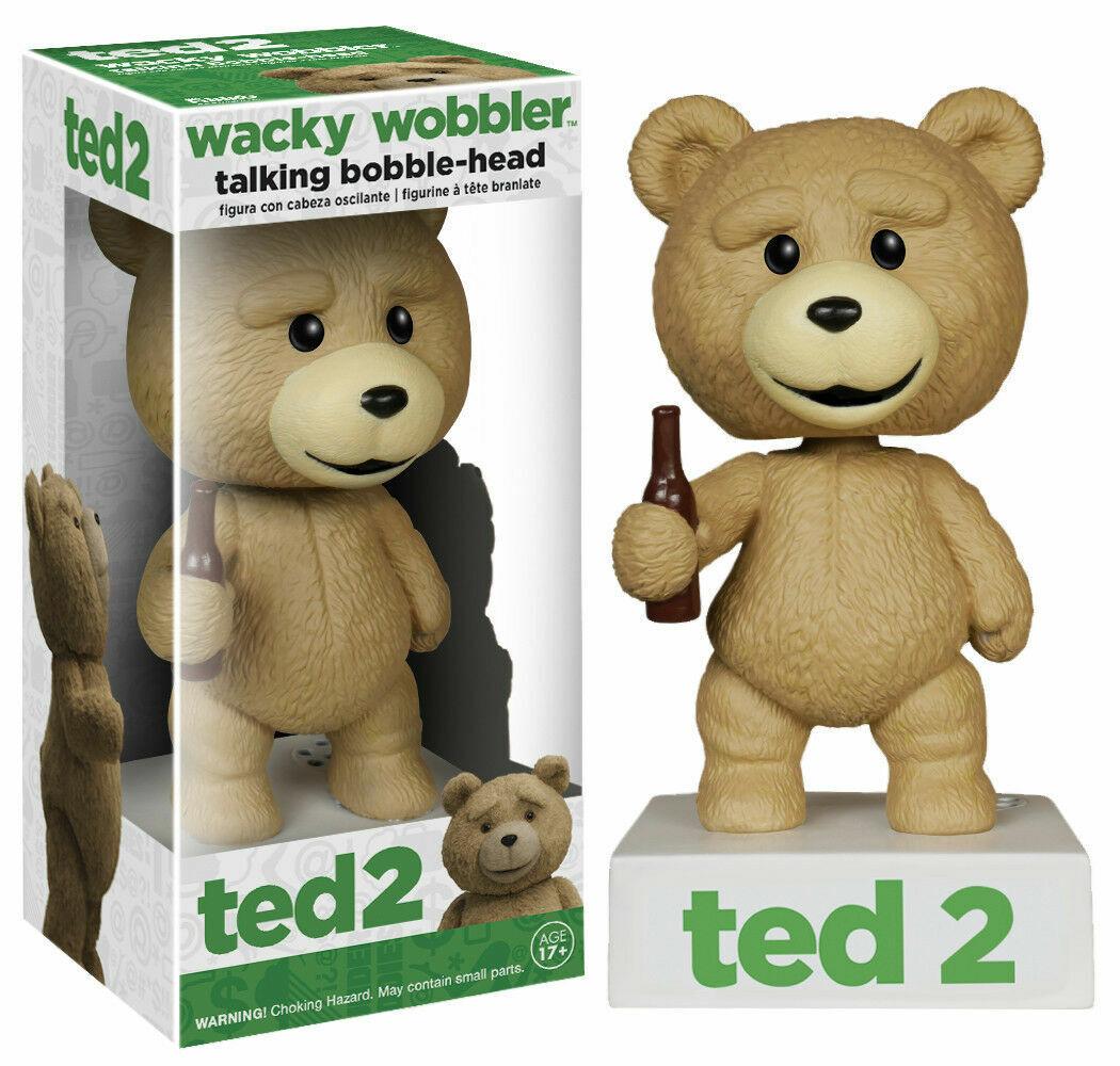 Funko Talking Ted Wacky Wobbler Bobble Head - Warehouse Ware on Box