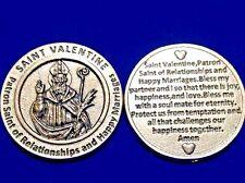 Rare St VALENTINE Pocket Token Patron Saint Relationships Happy Marrage Italy