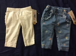 Infant Girls'-2 Pairs Of Newborn Pants by Cat & Jack-NEW WITH TAGS!