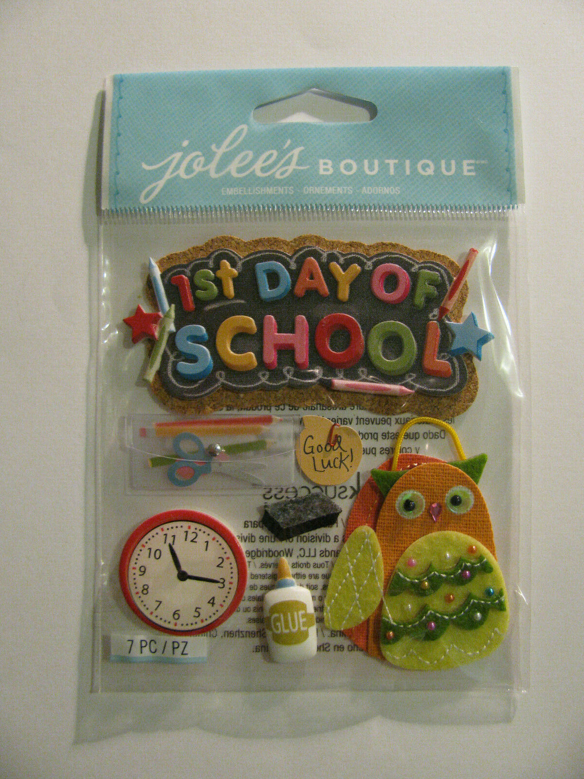 Jolee/'s Boutique Dimensional Stickers Baby First Day Of School 015586669336