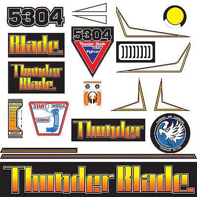 Sega Thunderblade Arcade Deluxe Monitor Shroud NOS Thunder Blade
