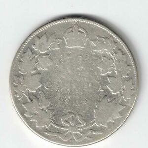 CANADA-1903H-50-CENTS-HALF-DOLLAR-KING-EDWARD-VII-CANADIAN-STERLING-SILVER-COIN