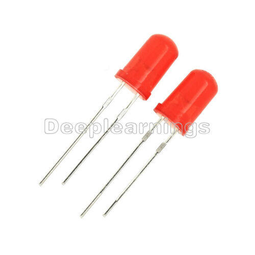 100Pcs LED 5MM RED COLOR RED LIGHT Super Bright Bulb Lamp NEW