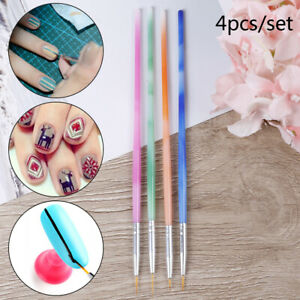 4x-Set-Nail-Art-Liner-Mixed-Color-Stripes-Liner-Drawing-Brush-Grid-Painting-GB
