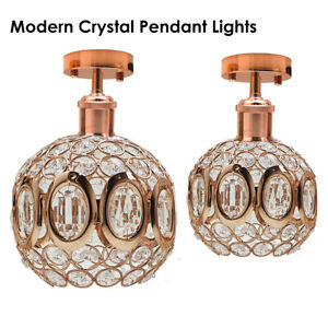 Modern-Crystal-Ceiling-Light-Shade-Flush-Mount-Droplet-Ceiling-Pendant-Lampshade