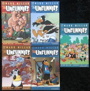The-Unfunnies-1-4-Special-COMPLETE-SERIES-SET-Avatar-Comics-Mark-Millar