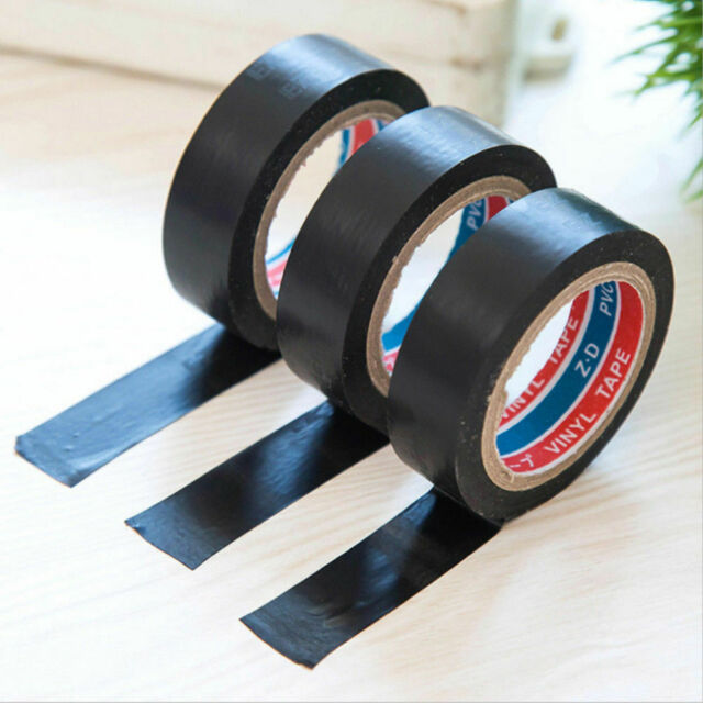 2019 PVC Electrical Wire Insulating Tape Roll Black 20M Length 16mm Wide Black