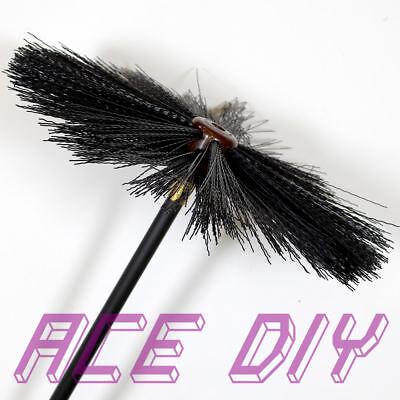 11 Piece Chimney Sweep Set Flue Sweeping Brush Amp Rod Kit
