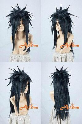 NARUTOS Uchiha Madara Long Black Cosplay Animation Modeling Wig