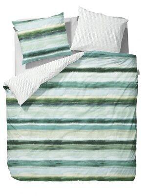 Bettwäsche Bettwäschegarnituren Begeistert Vanezza Bettwäsche Manou Grün Green Streifen Gestreift Batik Flanell Weiß Gesundheit Effektiv StäRken