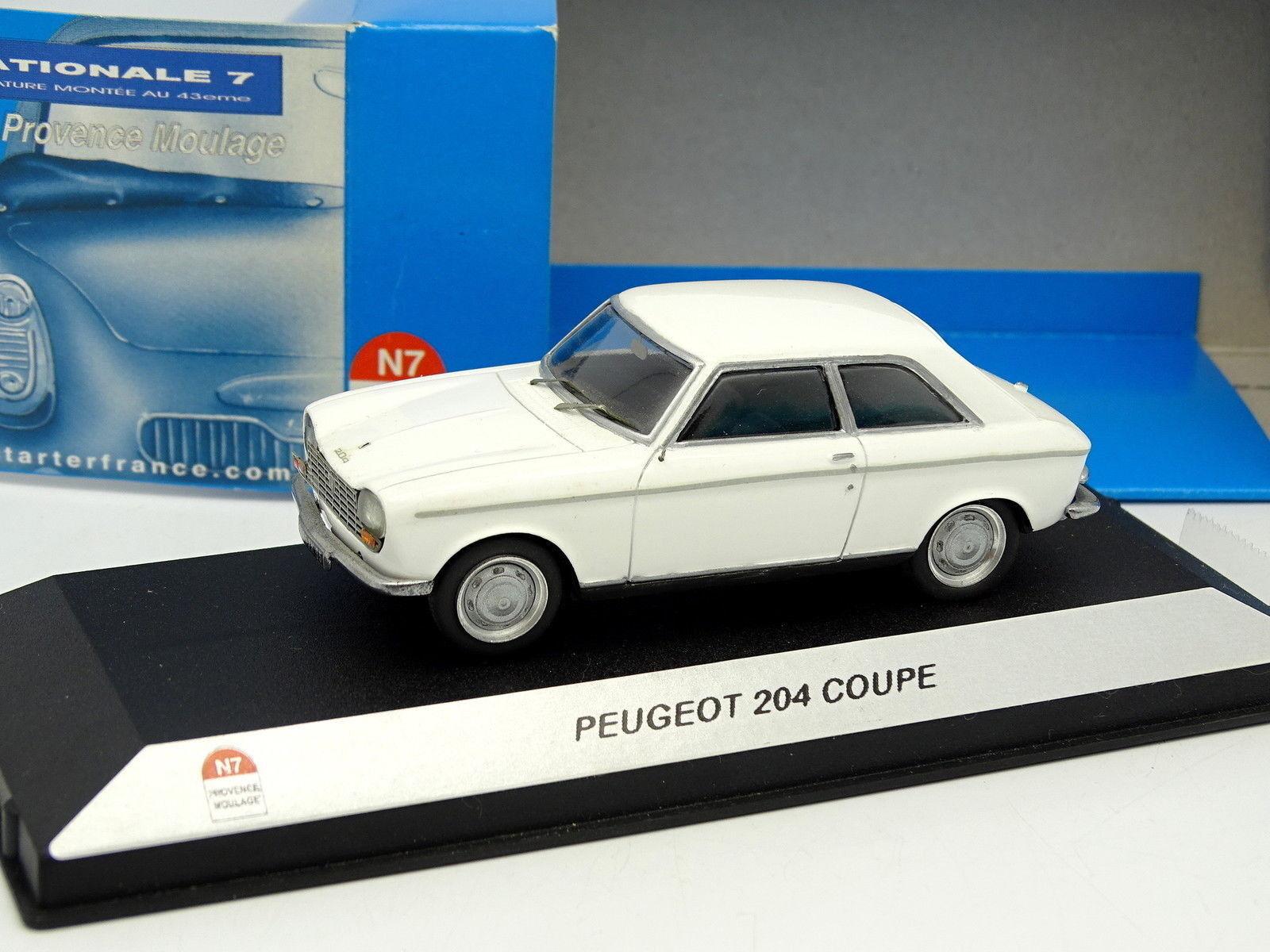 Starter N7 Provence Resina 1 43 - Peugeot 204 Coupé Bianco