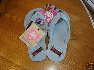 f2698bc2c Ocean Minded Laguna girl youth kids blue NEW flip flops size S Small ...