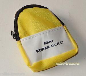 PORTE-CLES-Mini-SAC-a-DOS-Films-KODAK-Gold-avec-anneau-Modele-jaune