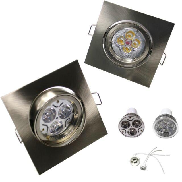 LED Spots schwenkbar eckig quadratisch 3W 4W 5W GU10 230V MR16 230V 12V Set