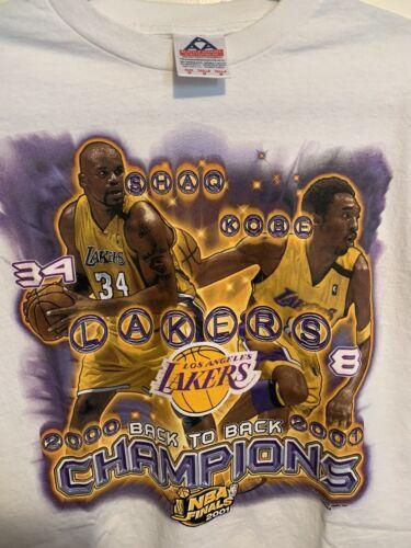 Kobe Shaq 2000 2001 Back 2 Back Vintage Rap Tee t