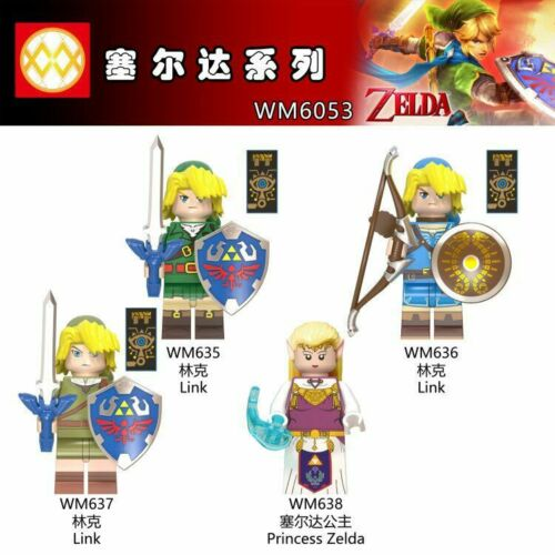 Mini Kinder Anime The Legend of Zelda Princess Tetra Link Sets Baukästen 4PCS
