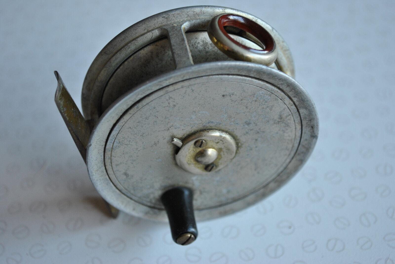 Vintage 3  J B Walker patrón 1 Reel + Projoector de línea de Ágata Roja, acabado en plata