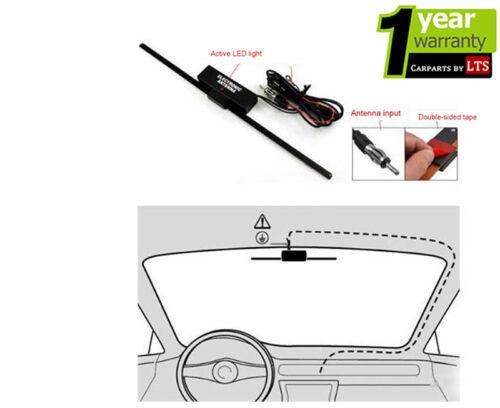 AUTO-SUV-Van-Camion - barca Finestra Universale montato Antenna elettronica amplificata