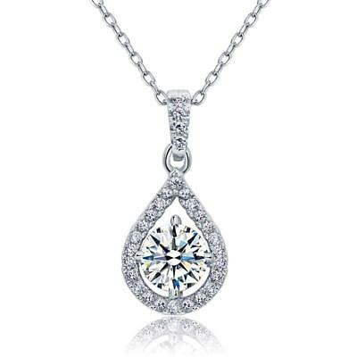 1 Carat Round Cut Created Diamond Bridal 925 Sterling Silver
