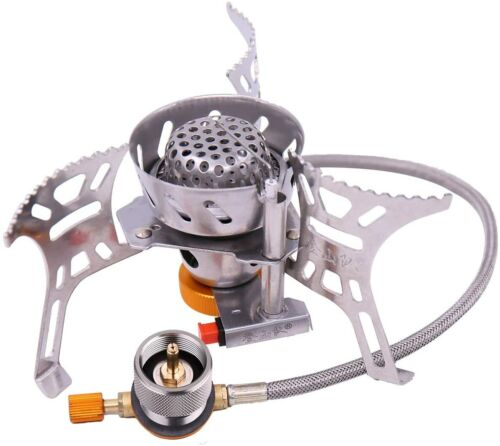 2 Pieces 1L Portable Camping Stove Adapter Propane Small Tank Input EN417