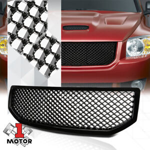 Glossy-Black-ABS-3D-Wave-Mesh-Front-Bumper-Grille-Grill-for-06-10-Dodge-Caliber