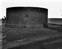 8x10 Civil War Photo: Monitor Ship Turret Damaged By Cannon Fire