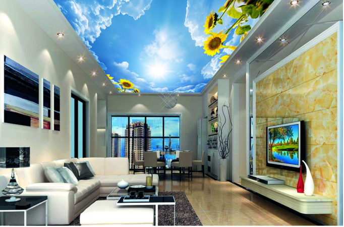 3D Sunny Sunflower Sky 89 Wall Paper Wall Print Decal Wall Deco AJ WALLPAPER