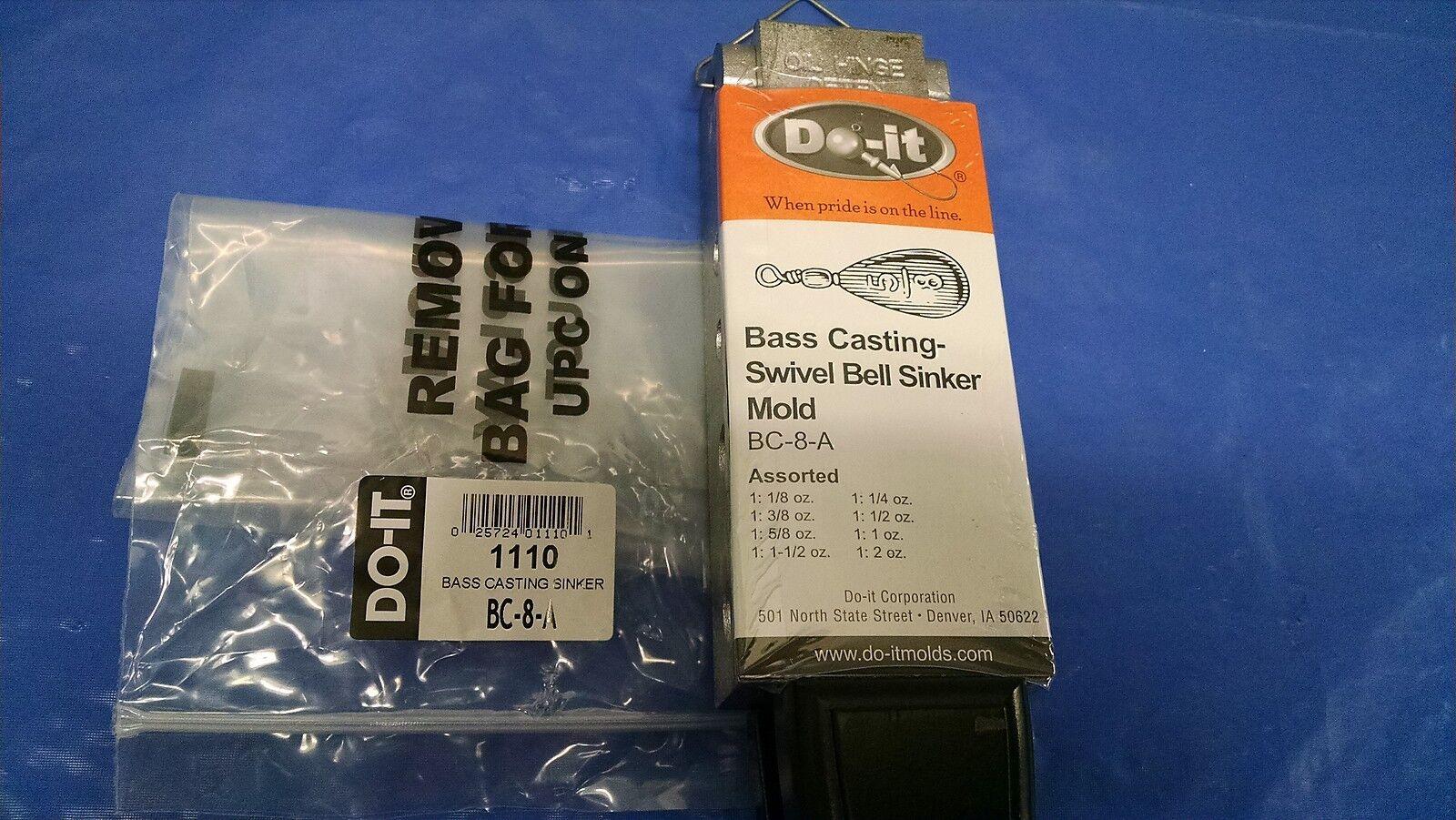 1110  NEW DO-IT SINKER MOLD BASS CASTING ASST 1 8--2 OZ, BC-8-A