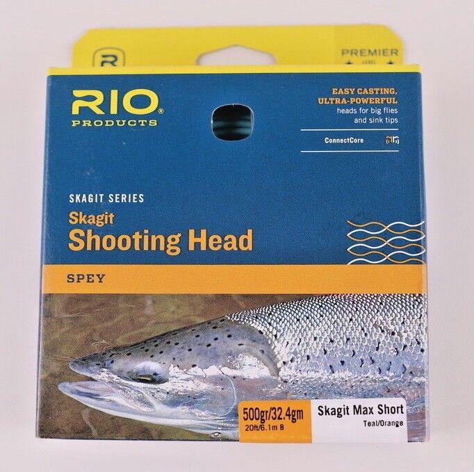 Rio Skagit Max Short 500 Grain Shooting Head Free Fast Shipping 6-20992